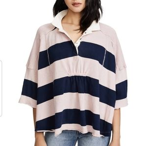 Free people yuki rugby top M